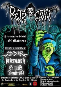 "Cartel presentación RETROFAITH ""...Of Madness"""